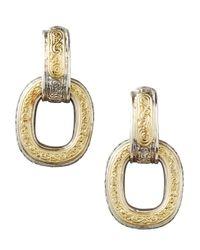 Konstantino - Metallic Silver  Gold Daphne Drop Earrings - Lyst