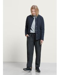 Violeta by Mango | Blue Paneled Water-repellent Quilted Jacket | Lyst