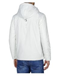 Napapijri | White Hooded Water-Resistant Anorak  for Men | Lyst