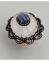Amrapali | Metallic Tanzanite and Diamond Cocktail Ring | Lyst