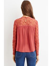 Forever 21 | Orange Embroidered Lace Top | Lyst