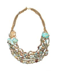Alexis Bittar | Blue 'Elements' Beaded Multistrand Necklace - Jasper/ Amazonite | Lyst