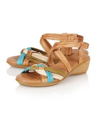 Lotus - Natural Luxa Open Toe Sandals - Lyst