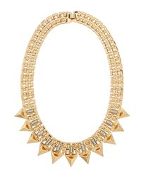 R.j. Graziano | Metallic Baguette Spiked Bib Necklace | Lyst