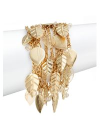 Saks Fifth Avenue | Metallic Chain Leaf Charm Bracelet | Lyst