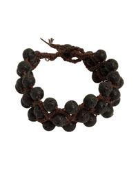 Tai - Black Lava Bead Three Strand Cinch Bracelet - Lyst
