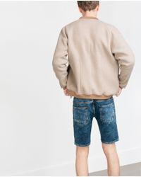 Zara | Blue Denim Shorts for Men | Lyst