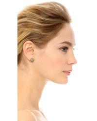 Chan Luu - Gray Pave Stone Earrings - Lyst