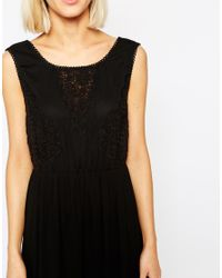 Vero Moda - White Boho Lace Detail Maxi Dress - Lyst