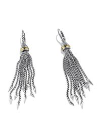 David Yurman - Metallic Chain Earrings With Gold - Lyst