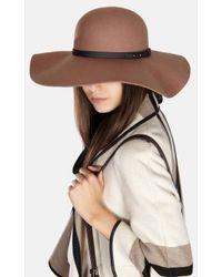 Karen Millen - Natural 70's Floppy Hat - Lyst