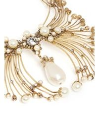 Erickson Beamon   Metallic Pearly Queen' Glass Pearl Crystal Pendant Metal Necklace   Lyst
