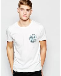 Jack & Jones | White T-shirt With Chest Logo Print In Slim Fit for Men | Lyst