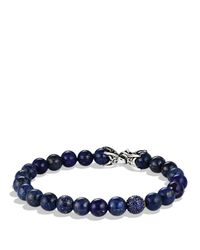 David Yurman | Blue Spiritual Beads Bracelet With Lapis Lazuli & Sapphires | Lyst