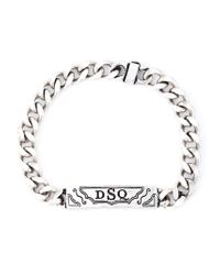 DSquared² - Metallic Logo Bracelet for Men - Lyst