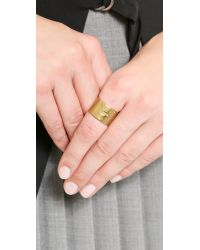 Madewell - Metallic Wide Glider Ring - Vintage Gold - Lyst