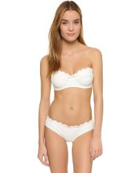 kate spade new york | White Marina Piccola Polka Dot Bikini Top | Lyst