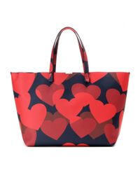 Victoria Beckham - Red Simple Printed Leather Shopper - Lyst
