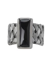 Roberto Coin - Woven Ring with Black Mother Of Pearl - Lyst