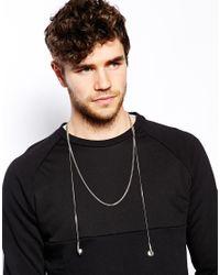 ASOS - Metallic Necklace with Earphones for Men - Lyst