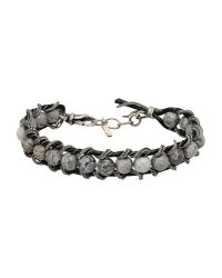 Emanuele Bicocchi - Metallic Sterling Silver Cross Charm Bracelet for Men - Lyst