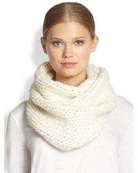 Helmut Lang - White Augmented Alpaca-Blend Infinity Scarf - Lyst