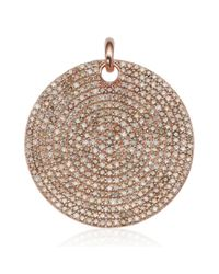 Monica Vinader | Metallic Ava Large Disc Pendant | Lyst