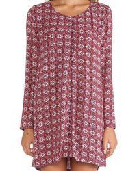 Tigerlily - Purple Boteh Dress - Lyst