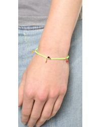 Shashi - Neon Lilu Bracelet - Green - Lyst