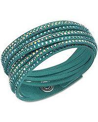 Swarovski | Green Slake Bracelet | Lyst