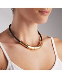 John Lewis - Black 4 Tube Bead Necklace - Lyst