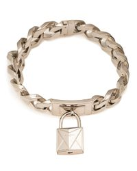 Givenchy - Metallic Lock Necklace - Lyst