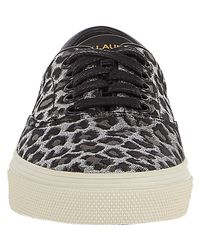Saint Laurent - Metallic Leopard Skate Sneaker for Men - Lyst