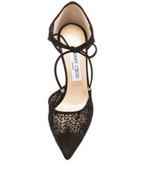 Jimmy Choo - Black Void Mesh Suede Pumps - Lyst