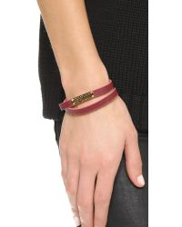 Marc By Marc Jacobs - Purple Standard Supply Leather Id Bracelet - Black - Lyst