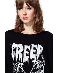 Nasty Gal - Black United Couture Creep Creep Sweater - Lyst