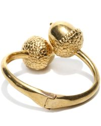Alexander McQueen - Metallic Acorn Bracelet - Lyst