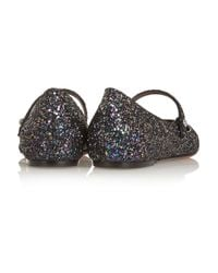 Tabitha Simmons - Blue Hermione Glitter-Finished Leather Point-Toe Flats - Lyst