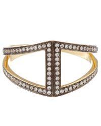 Noor Fares - Metallic Gold Rhombus Diamond Ring - Lyst