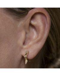 Anne Sisteron - Metallic 14kt White Gold Diamond Punk Huggie Earrings - Lyst
