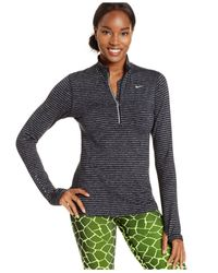 Nike | Gray Element Dri-fit Half-zip Pullover | Lyst