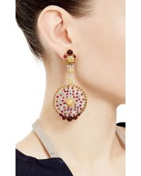 Abellan New York - Multicolor One Of A Kind Burma Rubies, Opals And Diamonds Earrings - Lyst