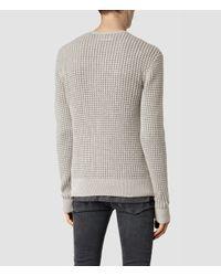 AllSaints - Gray Eydon Crew Sweater Usa Usa for Men - Lyst