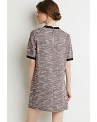 Forever 21 | Gray Contemporary Bouclé Ringer Shift Dress | Lyst