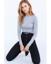 Silence + Noise | Gray Noelle Cropped Top | Lyst