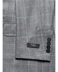 Paul Smith - Gray Windowpane Check Blazer for Men - Lyst