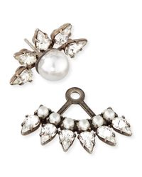 DANNIJO | Metallic Tessie Crystal Jacket Earrings | Lyst