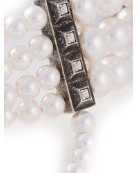 Lanvin | White Pearls Choker | Lyst