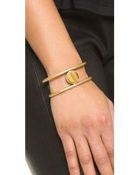 Madewell | Metallic Flat Sided Cuff Bracelet - Chestnut | Lyst