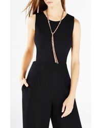 BCBGMAXAZRIA | Metallic Braided Chain Necklace | Lyst